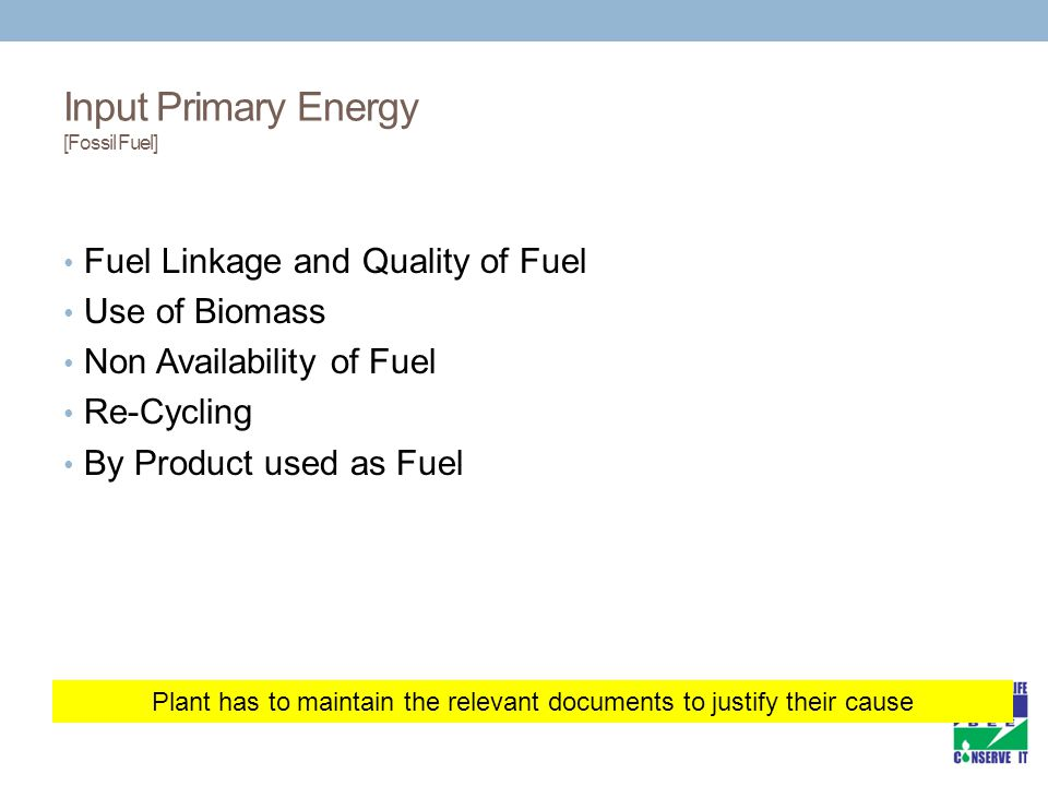 Input Primary Energy [Fossil Fuel]